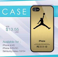 custom printing air jordan gold case wood iphone by SIMPELMonogram, $14.99