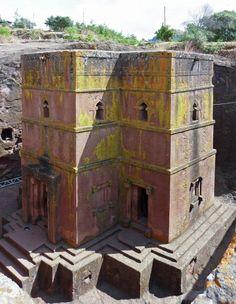 L'église médiévale de Saint-Georges, à Lalibela en Ethiopie.