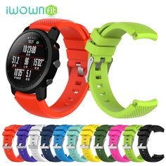iWOWNfit Smart Accessories for Amazfit Stratos strap Band for Xiaomi Watch 1 2 Amazfit Pace Pure Color Replacement Band Aliexpress, Smart Watch, Cool Stuff, Stuff To Buy, Headphones, Pure Products, Watches, Band, Mobiles
