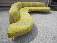 Amazing Vladimir Kagan style 2 Piece Serpentine Sofa Mid-century Modern image 7