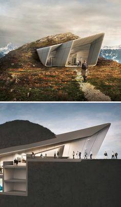 Mountaintop Museum: Underground Rooms Tunnel into Peak