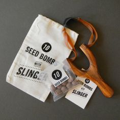 Make gardening even more fun with these seed bombs with slingshot