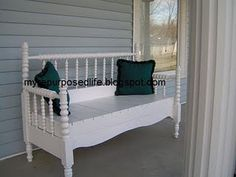 This makes me wish I had a ginormous front porch.  I'd toss pillows on there and sit and talk with friends for HOURS.