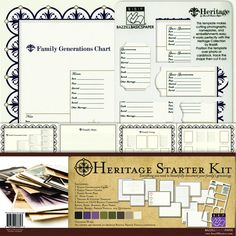 Bazzill Basics - Heritage Collection - 12 x 12 Starter Kit at Scrapbook.com $18.99
