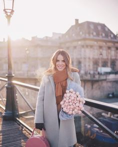 "Top Instagram Outfit- 35.4k Likes, 336 Comments - Julia Engel (Gal Meets Glam) (@juliahengel) on Instagram: ""Picking up some fresh blooms for the apartment before the girls arrived in Paris! #nyeinparis…"""