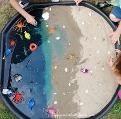 Bac exploration sensorielle theme sur la mer Tufftray - HappyAssMat Tuff Tray, Exploration, Les Themes, Poker Table, Toddler Activities, Ocean, Camps, Matisse, Alphabet