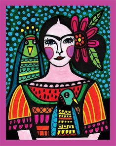 Folk Art Fusion provides you with tons if inspiration from folk art featuring different cultures from around the world. Mexican Paintings, Owl Paintings, Indian Paintings, Art Deco Posters, Hindu Art, Mexican Folk Art, Native Art, Art Club, Whimsical Art