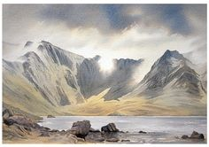 Landscape Watercolour paintings by Chris Hull of Snowdonia, North Wales, and the Lake District Watercolor Painting Techniques, Watercolor Landscape Paintings, Watercolor Art, Owl Paintings, Fun Craft, Craft Ideas, Scotland Landscape, Art Tutor, Sand Crafts