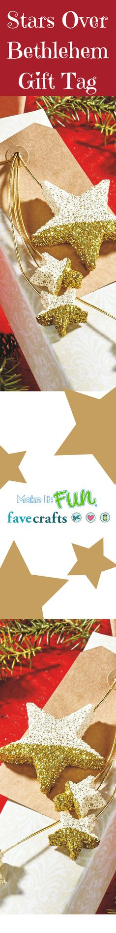 Dress up your presents this year with stars that shine. @makeitfuncrafts #FloraCraftChristmas