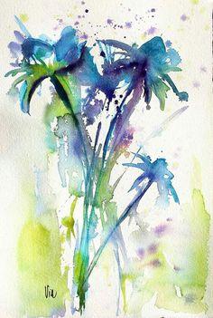 Blauw bloemen
