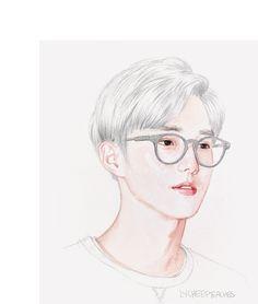 thx 4 th memes Chanyeol, Exo Fan Art, Kim Joon, Kim Junmyeon, We Are Together, 3 Arts, Kpop Fanart, Character Design, Drawings