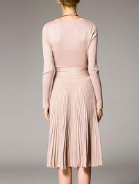 Pleated Cotton-blend Midi Dress