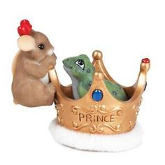 Charming Tails It Only takes ONE KISS Mouse Figurine NEW in BOX 12253