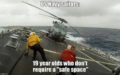 No safe space required. Go Navy!