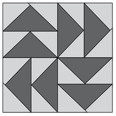 Dutchman's Puzzle, part of Quilter's World's FREE Quilt Block of the Month.
