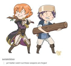 Now just imagine if there was a Fire Emblem show on Cartoon Network in this style. With this kind of joke.