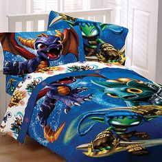 Skylanders Bedding and Bath Collection - BedBathandBeyond.com --- THIS IS THE ONE!!