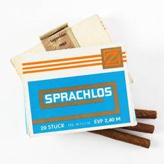 """""""Sprachlos"""" hinterließe diese DDR-Zigarrenmarke beim Rauchen auch heute noch ihre Umwelt. """"Sprachlos"""" (~ """"Speachless"""") - this cigar brand would still leave it's environment speechless in case someone would smoke it. #ddrmuseum #ddrgram #sprachlos..."""