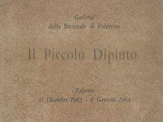 Catalogo Mostra 1963 Galleria della biennale di Palermo, Palermo