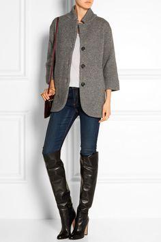 Burberry London | Ribbed wool-blend coat | NET-A-PORTER.COM