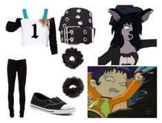 """""""Shenzi as Kimi Finster"""" by brainyxbat ❤ liked on Polyvore featuring Disney, Ann Demeulemeester, Converse and Xhilaration"""
