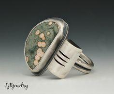 sterling ocean jasper ring LjB jewelry