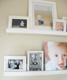 photo ledge and wall gallery...for the long hall leading to playroom