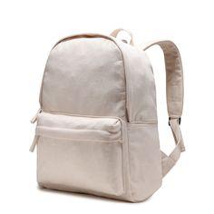 Karitco Plain Canvas Rucksack Light-weight Shoulder Backpack 2c927ec58f70f