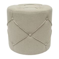 "16"" Avellino Round Ottoman.......I think I might have 2 made but square with a lid for storage"