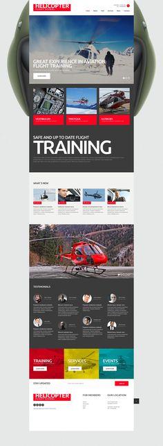 Website Theme , Flight School