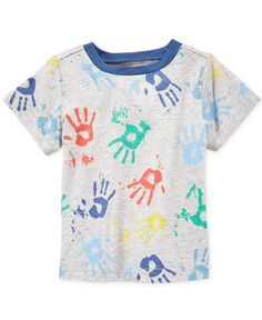 826b9dcf6a116 First Impressions Baby Boys' Short-Sleeve Splatter Handprint T-Shirt, Only  at Macy's & Reviews - Shirts & Tees - Kids - Macy's