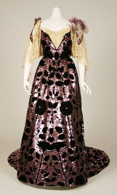 Worth ball gown, 1898-1903