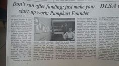 Don't run after funding; Just make your start-up work, says Mr. KS Bhatia, Founder of Pump Kart   More Pictures #ComingSoon! #StayTuned #Pumpkart #Startups