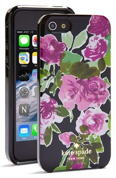 kate spade new york 'painterly roses' iPhone 5 & 5s case