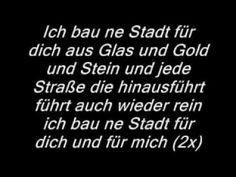 Ich bau ne Stadt für dich Lyrics.flv - YouTube