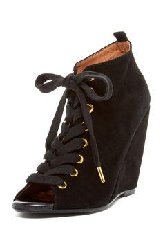 Rainey Lace-Up Wedge Bootie