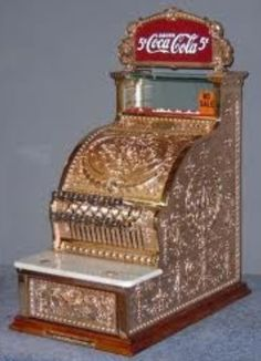 Coke National Cash Register - I worked for both companies and I have this register in my den. Now, I need to find the sign!