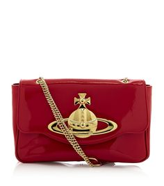 VIVIENNE WESTWOOD  Classic Orb Shoulder Bag    Inject polished style and charm into your everyday look with Vivienne Westwood's Classic Orb shoulder bag. The epitome of rock 'n' roll elegance, this statement accessory has been finished with the brand's distinctive gold-tone orb; a must-have for the new season.