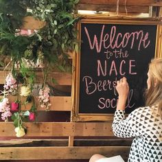 A sneak peek of Emily in action getting ready for the @nacerichmond Beer and BBQ social tonight @gardengrovebrewing!  A big thank you to @thegreenflamingorva and @paisleyandjade for helping us create this beautiful welcome display!