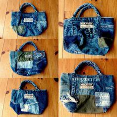 画像 デニムリメイクトートバッグ製作中の記事より Jean Purses, Purses And Bags, Recycle Jeans, Upcycle, Denim Art, Denim Handbags, Art Bag, Handmade Purses, Recycled Denim