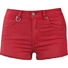 NEUW High-waist denim shorts (6,615 INR) ❤ liked on Polyvore featuring shorts, pants, bottoms, short, cut-off jean shorts, cut off jean shorts, high waisted shorts, high-waisted cutoff shorts and high-waisted cut-off shorts