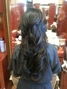 Heather Cha Styles - Irvine, CA, United States. Long hair w/ short layers