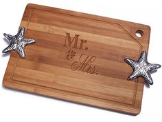 Mr. and Mrs. Bamboo Cutting Board