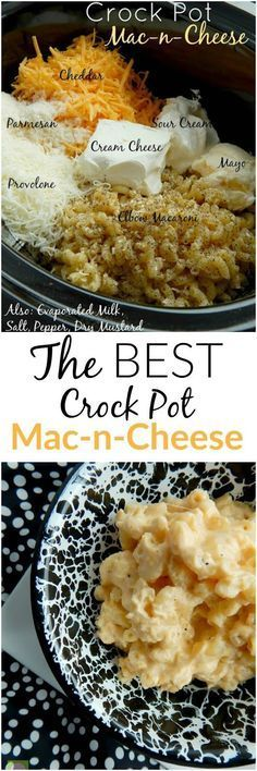 The BEST Crock Pot Mac-n-Cheese around! Creamy, smooth, cheesy…a definite crowd pleaser. The BEST Crock Pot Mac-n-Cheese around! Creamy, smooth, cheesy…a definite crowd pleaser. Think Food, I Love Food, Good Food, Yummy Food, Crock Pot Food, Crockpot Dishes, Crock Pots, Dinner Crockpot, Crockpot Mac And Cheese
