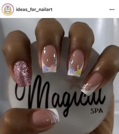 Best Acrylic Nails, Gel Manicure, Nail Designs, Nail Art, Glitter, Amanda, Spring, Beauty, Work Nails