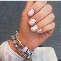 Pastel pink nails with white geometric graphics. ― re-pinned by Breanna L. ~Follow me and never miss a new nail design!~