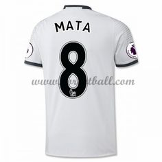 Billige Fotballdrakter Manchester United 2016-17 Mata 8 Tredje Draktsett Kortermet Manchester United Trikot, Premier League, Club, The Unit, Mens Tops, T Shirt, Shopping, Soccer Jerseys, Beginning Sounds