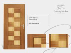 Handmade wooden door_code: Bologna #handmade #wooden #door #marqueterie