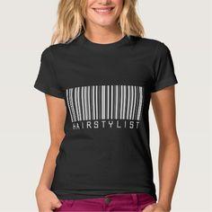 Hairstylist Bar Code Tee T Shirt, Hoodie Sweatshirt