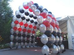 football balloon arches | BALLOONATICS: This Week's Balloon Arches